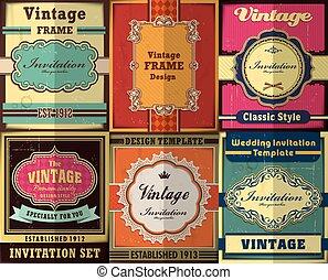 Vintage Frame poster design set
