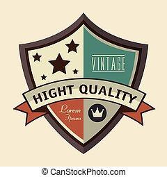 vintage frame quality seal
