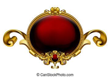 Vintage frame red, 10eps