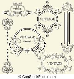 Vintage frame set - Vector vintage frame set