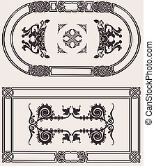 Vintage Frame Vector Set