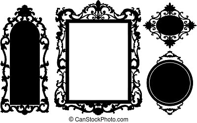 vintage black frame. Vintage Flower Clip Art Vector Graphics 277437 Black Frame E