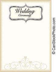 Vintage frame Wedding Ceremony