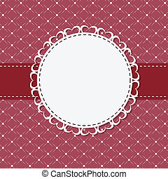 vintage frame with bow