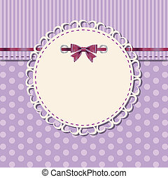 vintage frame with bow vector illustration