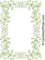vintage frame with butterflies for your design