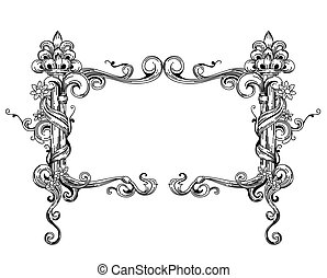 Vintage Frame with Clipping Path