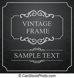 Vintage Frame with damask lace pattern.