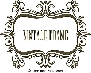 Vintage frame with embellishments
