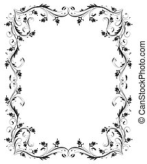 Vintage frame with floral ornament for greeting card...