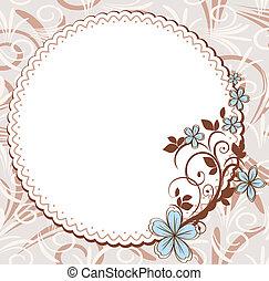 Vintage frame with floral pattern
