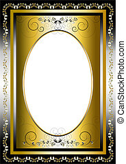 Vintage frame with gold and silver