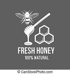 Vintage frame with Honey label