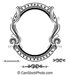 Vintage frame with ornament
