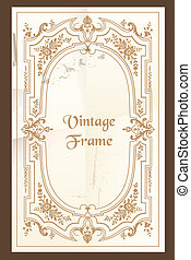 Vintage frame - with place for your text - in vector