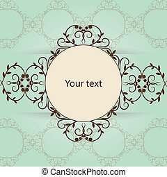 Vintage frame with place for your text