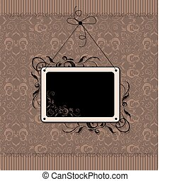Vintage frame with seamless wallpaper