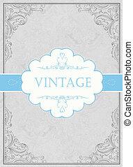 Vintage framed background with label. Vector, EPS10