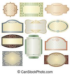 Vintage frames - A vector illustration of different vintage ...