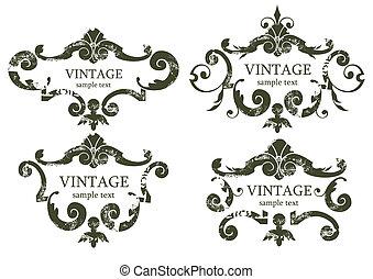 vintage frames - vector vintage frames