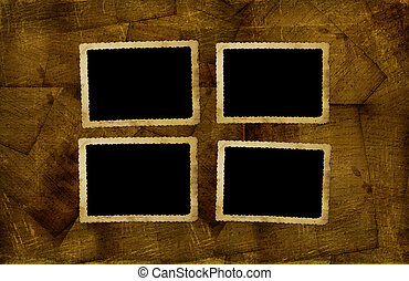 Vintage frames for photos on the abstract background