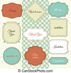 Vintage Frames on Shabby Chic background. Printing on fabric...