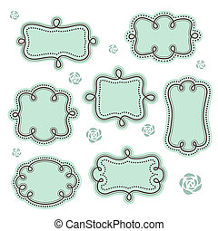 Cute set of vinate frames