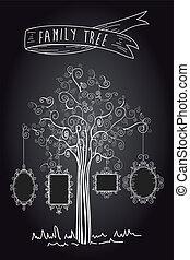 Vintage frames tree