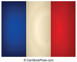 Vintage France Flag. Vector illustration.