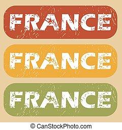 Vintage France stamp set