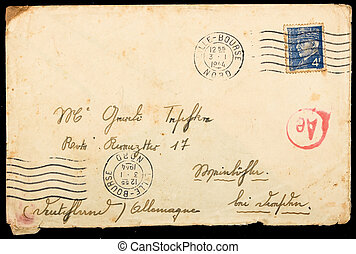 Vintage French mailing envelope