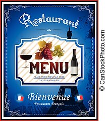 Vintage french restaurant menu and poster design
