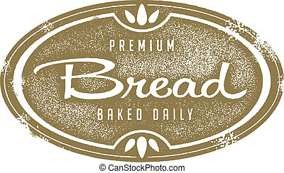 Vintage Fresh Bread Bakery Stamp