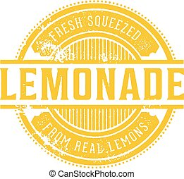 Vintage Fresh Lemonade Menu Stamp