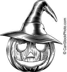 Vintage friendly halloween pumpkin - A Halloween pumpkin...