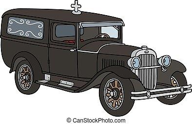 Vintage funeral car