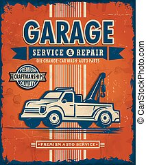 Vintage Garage poster design