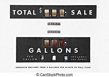 vintage gas pump details