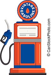 Vintage gas pump gun vector illustration