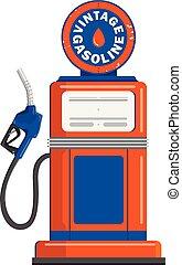 Vintage gas pump gun vector illustration