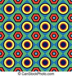 vintage geometric abstract seamless pattern
