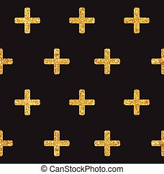 Vintage Geometric Glittery Gold Background - Seamless Pattern - in vector