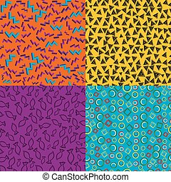 Vintage geometric retro patterns