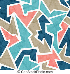 vintage geometric triangle seamless pattern