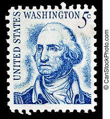 Vintage George Washington USA 5c postage stamp