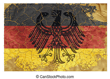 Vintage German flag