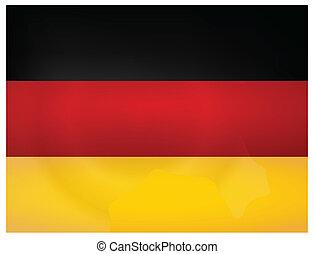 Vintage Germany Flag. Vector illustration.