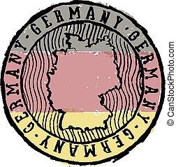 Vintage Germany Travel Stamp