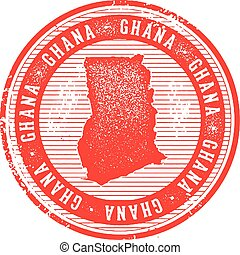 Vintage Ghana African Country Stamp