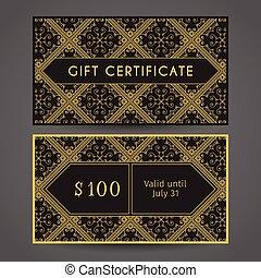 Vintage Gift Certificate